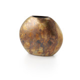 Sedona Burnished Copper Round Vase 5 inH