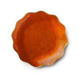 Symphony Burnt Orange Enamel Dish 8 in
