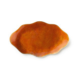 Symphony Burnt Orange Enamel Oval 10 in