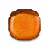 Symphony Burnt Orange Enamel Square Dish 6½ in (4pc Box)