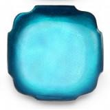 Symphony Turquoise Enamel Square Dish 6½ in (4pc Box)