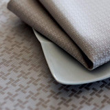 Origami Beige Easy Care Table Linens