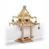 Pagoda Gold Napkin Rings - Two