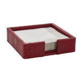 Python Red Dragon Cocktail Napkin Holder with Napkins 5.8 x 5.8 in