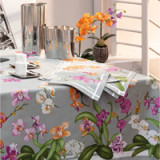 Orchidees Gray Table Linens