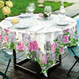 Hortensias Rose/Gray Table Linens