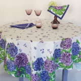 Hortensias Blue/Violet Table Linens