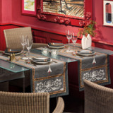 Voltaire Anthracite Table Linens