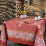 Voltaire Scarlet Table Linens