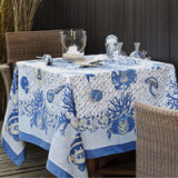 Aquarius Blue Table Linens