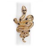 Snake Gold Napkin Rings
