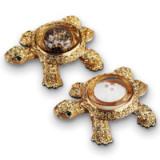 Turtles Gold Salt & Pepper Shakers