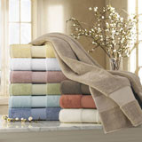 Luxury Bath Towel Mat Robe Monogrammed Hand | Gracious Style