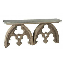 Arched Cathedral Table w/ Tin Top