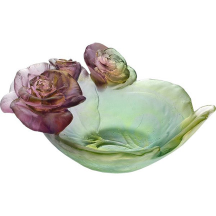 Rose Passion Mini Bowl, Green and Pink | Gracious Style