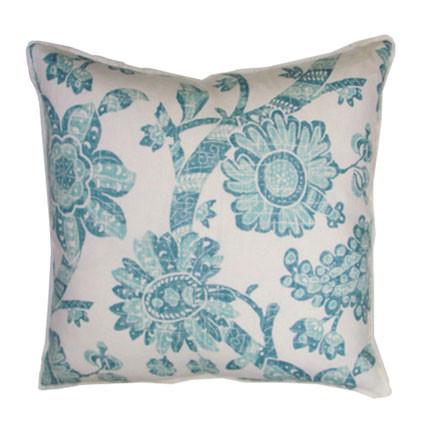 Peacock Batik Resist Throw Pillow 20 in Sq | Gracious Style