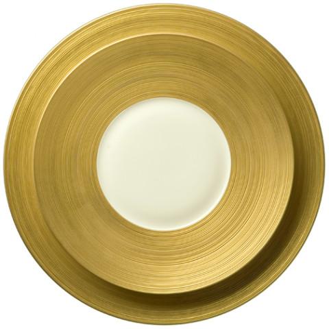 Hemisphere Matte Gold Dinnerware | Gracious Style