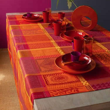 Mille Wax Ketchup Table Linens | Gracious Style