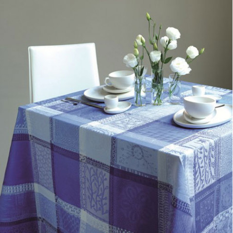 Mille Wax Ocean Table Linens | Gracious Style
