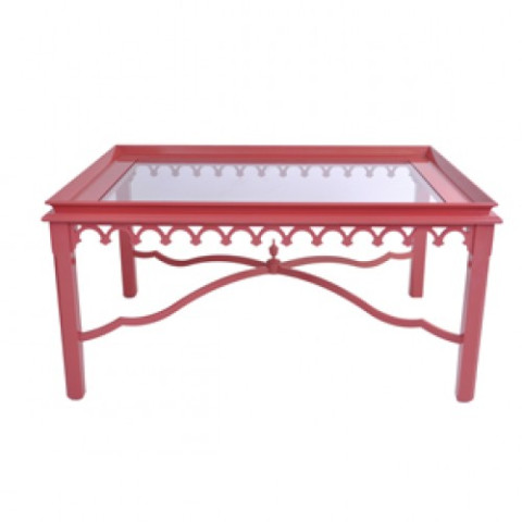 Newport Coffee Table w/Glass | Gracious Style