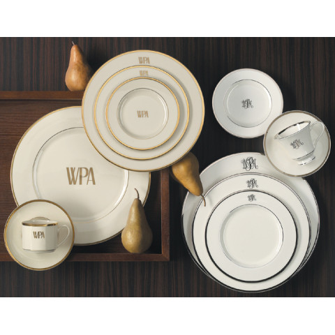 Signature Monogram Platinum Dinnerware | Gracious Style