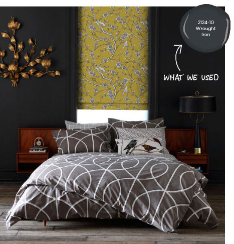 Bedroom makeover dwell studio and benjamin moore for Benjamin moore smoked oyster paint color